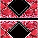 Snake Skin Diamond Print by huliodoyle