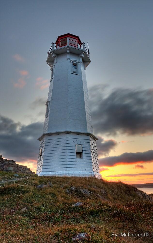 Louisbourg Lighthouse at Sunset by EvaMcDermott