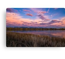Cloudy To The West Canvas Print