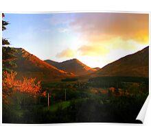 Autumnal Sunset - Conemara Poster