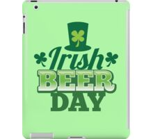 Irish Beer day St Patricks day design with top hat and shamrocks iPad Case/Skin