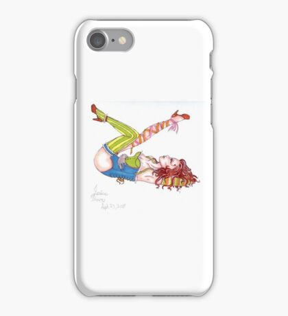 Stripes and Ribbon Pin Up iPhone Case/Skin