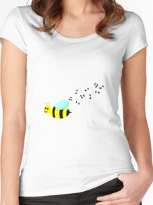 Bee Music Women's Fitted Scoop T-Shirt