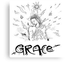 Grace - Drawn by Nataraaj Canvas Print