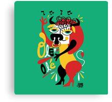 Toro loco - Crazy bull spanish ole ole Canvas Print