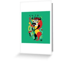 Toro loco - Crazy bull spanish ole ole Greeting Card