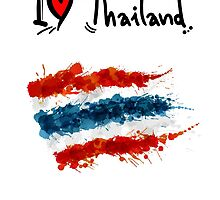 I LOVE THAILAND FLAG by harrisonformula