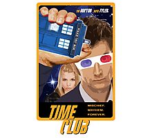 Time Club | Doctor Who | The Tenth Doctor & Rose Tyler | 3D Glasses Photographic Print
