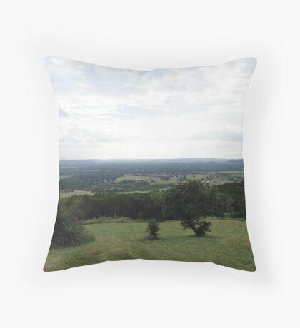 Texas Hills Throw Pillow