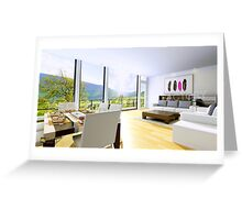 3D Interior Rendering Services Greeting Card