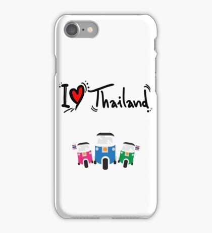 I LOVE THAILAND TUK TUK iPhone Case/Skin