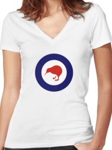 Roundel of New Zealand Air Force  Women's Fitted V-Neck T-Shirt