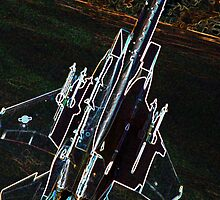 Neon F-15 Fighter Jet by johnnycdesigns