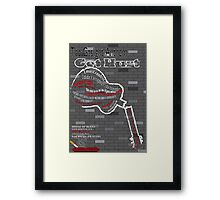 The Gaslight Anthem Get Hurt Tour Poster  Framed Print