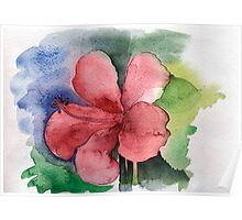 Seamless floral background watercolor Poster