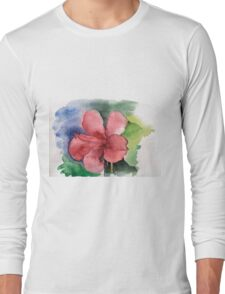 Seamless floral background watercolor Long Sleeve T-Shirt