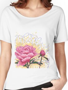 peony flowers Women's Relaxed Fit T-Shirt
