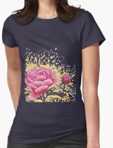 peony flowers Womens Fitted T-Shirt