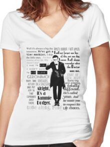 Elevent hour - on white Women's Fitted V-Neck T-Shirt