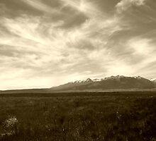 Wallowa Prairie (Sepia) by pfeifferphotos