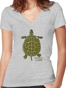 Turtle Lover Women's Fitted V-Neck T-Shirt