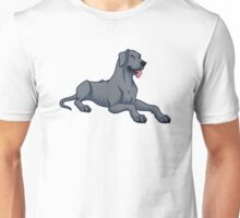 Great Dane - Blue - Floppy Ears  Unisex T-Shirt