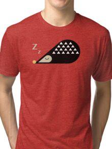 Sleeping Hedgehog  Tri-blend T-Shirt
