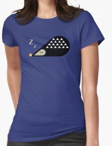 Sleeping Hedgehog  Womens Fitted T-Shirt
