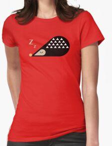 Sleeping Hedgehog  Womens Fitted T-Shirt