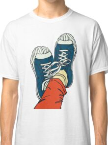 colored pattern gym shoes Classic T-Shirt