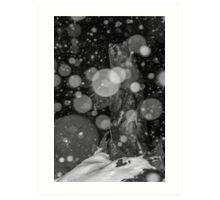 Spirit Bear in Snowstorm Art Print