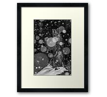 Spirit Bear in Snowstorm Framed Print