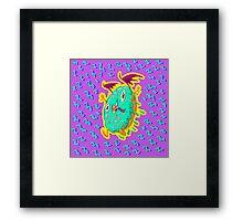 Dunky Glaze: The Demon Donut Framed Print