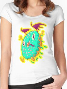 Dunky Glaze: The Demon Donut Women's Fitted Scoop T-Shirt