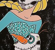 Sugar Skull Elsa and Olaf by Katherine  OGane