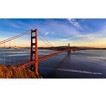SF Golden Gate Bridge at Sunset Photographic Print