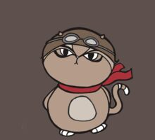 Sumo Cat Flying Ace Baby Tee