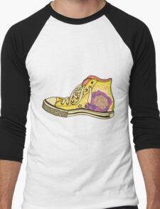 colored pattern gym shoes Men's Baseball ¾ T-Shirt