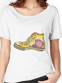 colored pattern gym shoes Women's Relaxed Fit T-Shirt