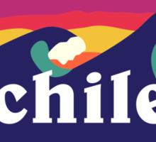 Chile Surf Waves Sticker