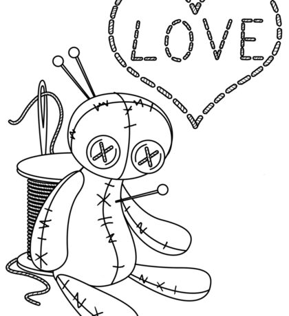 voodoo doll love stitch Sticker