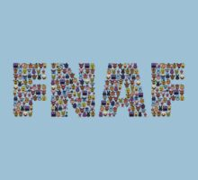 Five Nights at Freddy's - Pixel art - FNAF typography Kids Clothes
