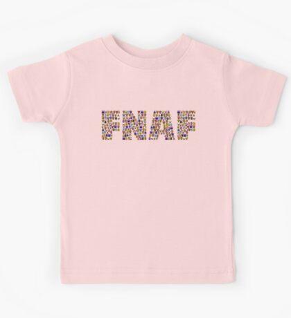 Five Nights at Freddys - Pixel art - FNAF typography Kids Tee