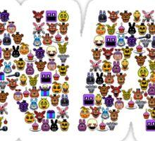 Five Nights at Freddy's - Pixel art - FNAF typography Sticker