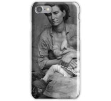 Dorothea Lange, Migrant mother (alternative), Nipomo, California, 1936 2 iPhone Case/Skin