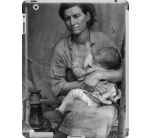 Dorothea Lange, Migrant mother (alternative), Nipomo, California, 1936 2 iPad Case/Skin