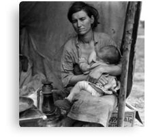 Dorothea Lange, Migrant mother (alternative), Nipomo, California, 1936 2 Canvas Print