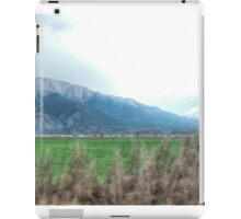 colorado rocky mountain town on the go iPad Case/Skin