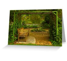 Cottage Arbour Greeting Card