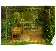 Cottage Arbour Poster